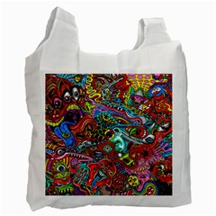 Moster Mask Recycle Bag (one Side) by AnjaniArt