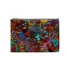 Moster Mask Cosmetic Bag (medium)  by AnjaniArt