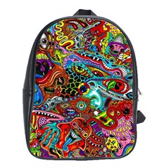 Moster Mask School Bags(large)  by AnjaniArt