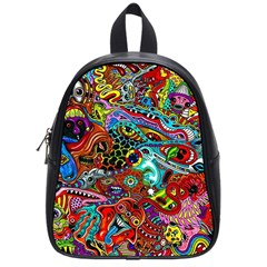 Moster Mask School Bags (small)  by AnjaniArt