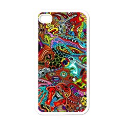 Moster Mask Apple Iphone 4 Case (white) by AnjaniArt