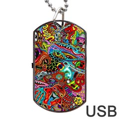 Moster Mask Dog Tag Usb Flash (one Side) by AnjaniArt