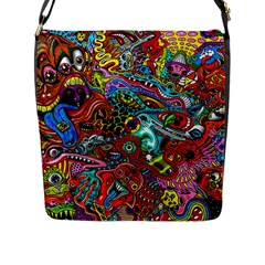 Moster Mask Flap Messenger Bag (l)  by AnjaniArt