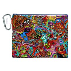 Moster Mask Canvas Cosmetic Bag (xxl) by AnjaniArt
