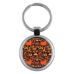 Pumpkin Helloween Key Chains (round)  by AnjaniArt