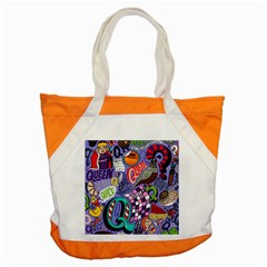 Q Pattern Accent Tote Bag