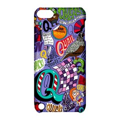 Q Pattern Apple Ipod Touch 5 Hardshell Case With Stand by AnjaniArt