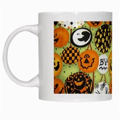 Print Halloween White Mugs by AnjaniArt