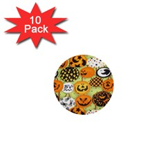 Print Halloween 1  Mini Buttons (10 Pack)  by AnjaniArt
