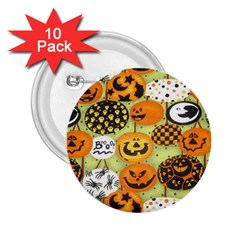 Print Halloween 2 25  Buttons (10 Pack)  by AnjaniArt