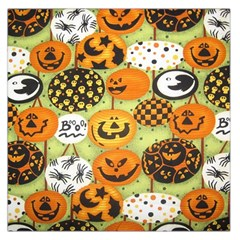 Print Halloween Large Satin Scarf (square) by AnjaniArt