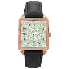 Pet Goose Swan Rose Gold Leather Watch  by AnjaniArt