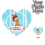Santa Claus Reindeer Christmas Multi-purpose Cards (Heart)  Front 35