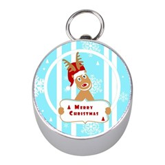 Santa Claus Reindeer Christmas Mini Silver Compasses by AnjaniArt