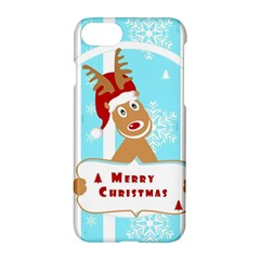 Santa Claus Reindeer Christmas Apple iPhone 7 Hardshell Case by AnjaniArt