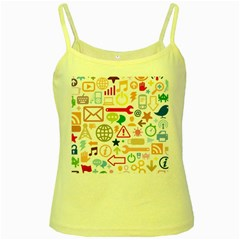Sign Yellow Spaghetti Tank by AnjaniArt