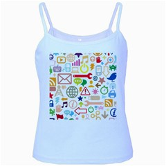 Sign Baby Blue Spaghetti Tank