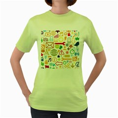 Sign Women s Green T Shirt