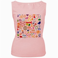 Sign Women s Pink Tank Top