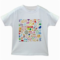 Sign Kids White T Shirts