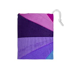 Purple Swatch Drawstring Pouches (medium)  by PhotoThisxyz