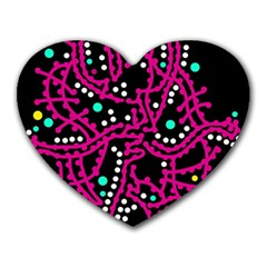 Pink Fantasy Heart Mousepads by Valentinaart