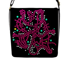 Pink Fantasy Flap Messenger Bag (l)  by Valentinaart