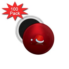 Red Christmas Had 1 75  Magnets (100 Pack)  by AnjaniArt