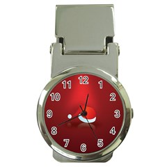 Red Christmas Had Money Clip Watches by AnjaniArt