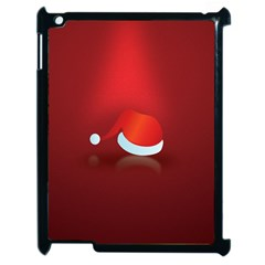 Red Christmas Had Apple iPad 2 Case (Black) by AnjaniArt