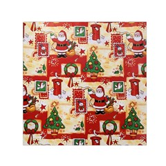 Santa Clause Mail Bird Snow Small Satin Scarf (square) by AnjaniArt