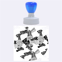 Tals Stupid Rubber Round Stamps (Large) by AnjaniArt