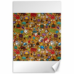 Retro Face Canvas 24  X 36  by AnjaniArt