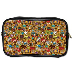 Retro Face Toiletries Bags by AnjaniArt