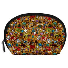 Retro Face Accessory Pouches (large)  by AnjaniArt