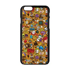 Retro Face Apple Iphone 6/6s Black Enamel Case by AnjaniArt