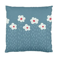 Cloudy Sky With Rain And Flowers Standard Cushion Case (one Side) by CreaturesStore