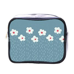 Cloudy Sky With Rain And Flowers Mini Toiletries Bags by CreaturesStore