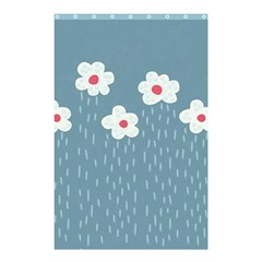Cloudy Sky With Rain And Flowers Shower Curtain 48  X 72  (small)  by CreaturesStore