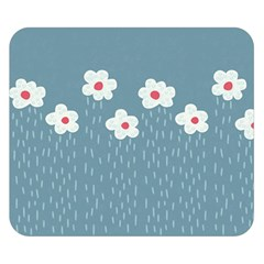 Cloudy Sky With Rain And Flowers Double Sided Flano Blanket (small)  by CreaturesStore