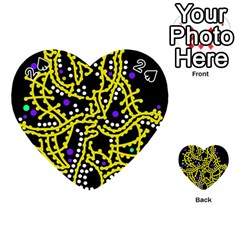 Yellow Fantasy Playing Cards 54 (heart)  by Valentinaart
