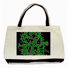 Green Fantasy Basic Tote Bag (two Sides) by Valentinaart