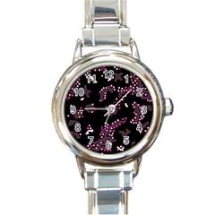 In My Mind   Pink Round Italian Charm Watch by Valentinaart