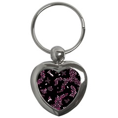 In My Mind   Pink Key Chains (heart)  by Valentinaart