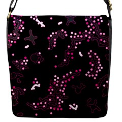 In My Mind   Pink Flap Messenger Bag (s) by Valentinaart