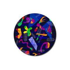 Colorful Dream Magnet 3  (round) by Valentinaart