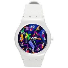 Colorful Dream Round Plastic Sport Watch (m) by Valentinaart