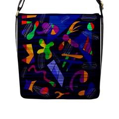 Colorful Dream Flap Messenger Bag (l)  by Valentinaart
