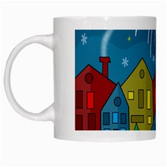 Xmas Landscape White Mugs by Valentinaart
