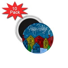 Xmas Landscape 1 75  Magnets (10 Pack)  by Valentinaart